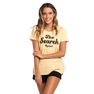 T-SHIRT RIP CURL KEEP SEARCHING FEMME MOUTARDE