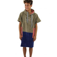 PONCHO ALL IN JUNIOR VERT KAKI BLEU