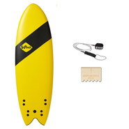 SURF SOFTECH HANDSHAPED SB 5.4 QUAD JAUNE