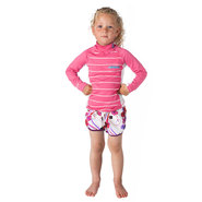 LYCRA MYSTIC STAR LS ENFANT ROSE