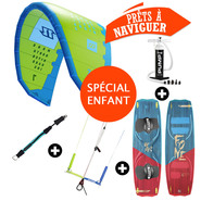 PACK KITESURF ENFANT NORTH MONO + PLANCHE F-ONE WTF NEXT