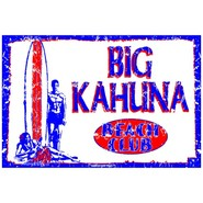 PLAQUE ALU DECO BIG KAHUNA BEACH CLUB