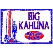 PLAQUE ALU DECO BIG KAHUNA BEACH CLUB