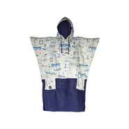 PONCHO ALL-IN V BUMPY NAVY/MARIN PRINT