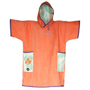 PONCHO ALL-IN V ORGANIC MAUVE/MELON
