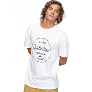 T-SHIRT QUIKSILVER CLASSIC MORNING SLIDES HOMME BLANC