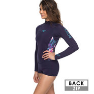 SHORTY ROXY 2MM SYNCRO SERIES MANCHES LONGUES FEMME BLEU