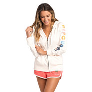 SWEAT RIP CURL HORIZION ZIP THRU HOODED FEMME BLANC