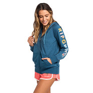 SWEAT RIP CURL HORIZION ZIP THRU HOODED FEMME BLEU
