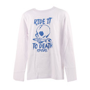 T-SHIRT RIP CURL RIDE IT ENFANT MANCHES LONGUES BLANC