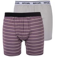 BOXER RIP CURL STRIPY & SOLID LOT DE 2