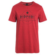 T-SHIRT RIP CURL ROUNDED ROUGE