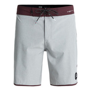 BOARDSHORT QUIKSILVER HIGHLINE SCALLOP 19 GRIS / BORDEAU