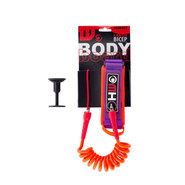 LEASH BODY BOARD HOWZIT ORANGE/VIOLET