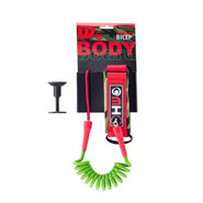 LEASH BODY BOARD HOWZIT VERT/ROUGE