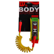 LEASH BODY BOARD HOWZIT VERT/JAUNE/ROUGE
