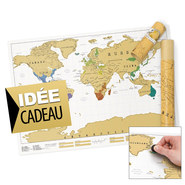 CARTE DU MONDE A GRATTER SCRATCH MAP ORIGINAL