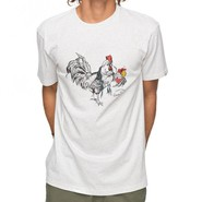 T-SHIRT QUIKSILVER HEATHER ROOSTER VIBE BLANC