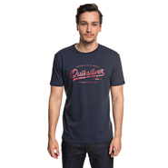 T-SHIRT QUIKSILVER LIVING ON THE FRONT NAVY
