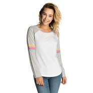 T-SHIRT RIP CURL SURF RACER LONG SLEEVE BLANC