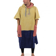 PONCHO ALL IN BUMPY TIGER BEIGE BLEU