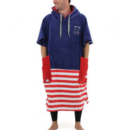PONCHO ALL IN BLEU BLANC ROUGE USA