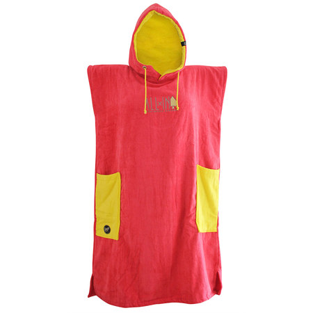 PONCHO ALL-IN CLASSIC BUMPY ROSE/JAUNE TU