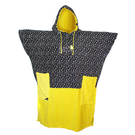 PONCHO ALL-IN V BUMPY JAUNE PRINT TU