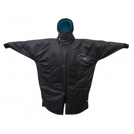PONCHO ALL IN STORM VEST NOIR/BLEU TU