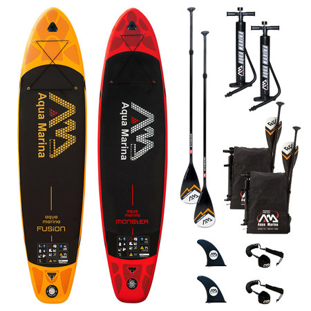 PACK SUP GONFLABLE AQUA MARINA FUSION + MONSTER 2018