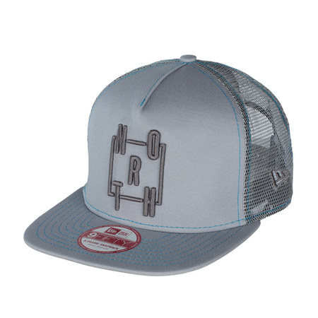 CASQUETTE NORTH NEW ERA 9FIFTY A FRAME GRISE S/M