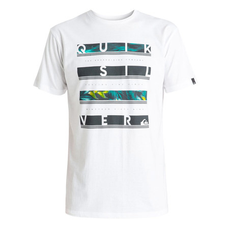 T-SHIRT QUIKSILVER CLASSIC READ BETWEEN BLANC XL