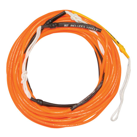CORDE HYPERLITE 80 FT SILICONE FLAT LINE ORANGE