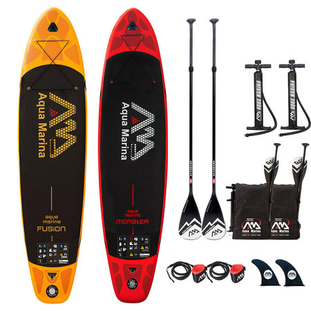 PACK SUP GONFLABLE AQUA MARINA FUSION + MONSTER 2018 11.0&12.0