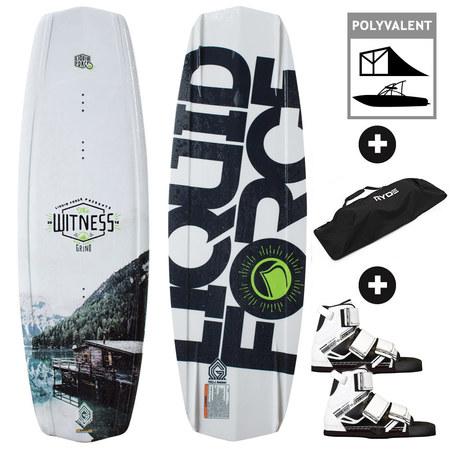 PACK WAKEBOARD LIQUID FORCE WITNESS GRIND 2016 + OBRIEN CONNECT 2017 140