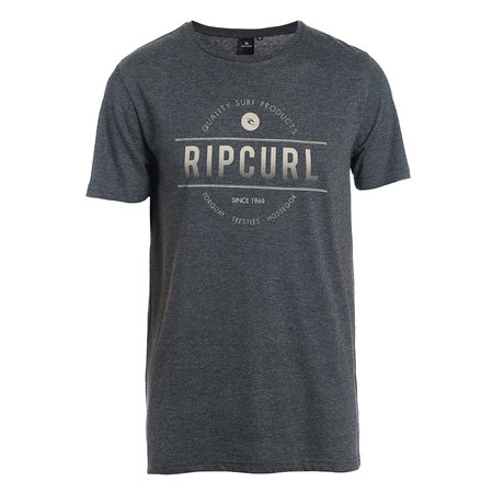 T-SHIRT RIP CURL ROUNDED ANTHRACITE M