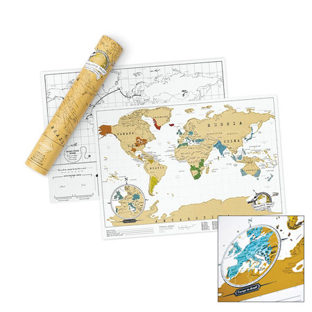 CARTE DU MONDE A GRATTER SCRATCH TRAVEL MAP