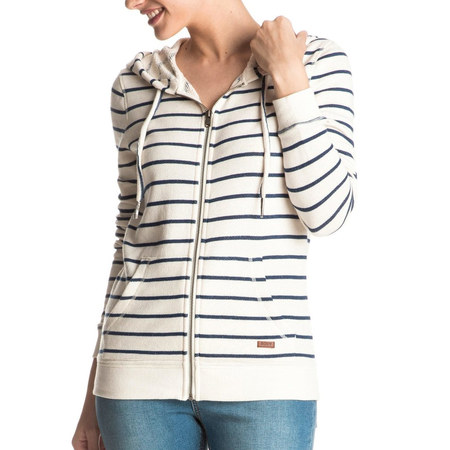 SWEAT ROXY SIGNATURE STRIPE FEMME MARSHMALLOW