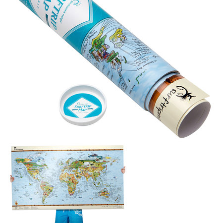 CARTE DU MONDE SURF TRIP MAP