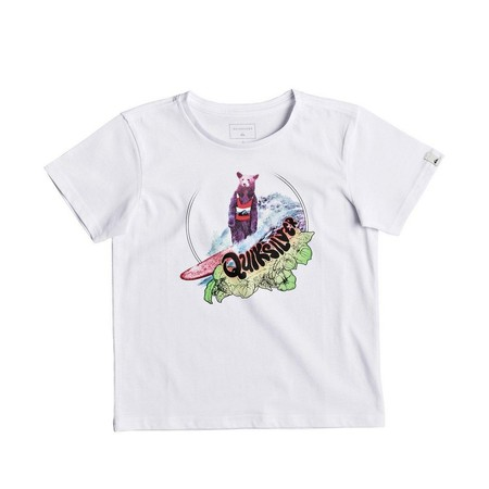 T-SHIRT QUIKSILVER LOG BEAR BOY ENFANT BLANC