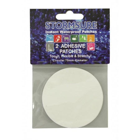 PATCH DE REPARATION ADHESIF STORMSURE TUFF PATCH DIAMETRE 75MM LOT DE 2