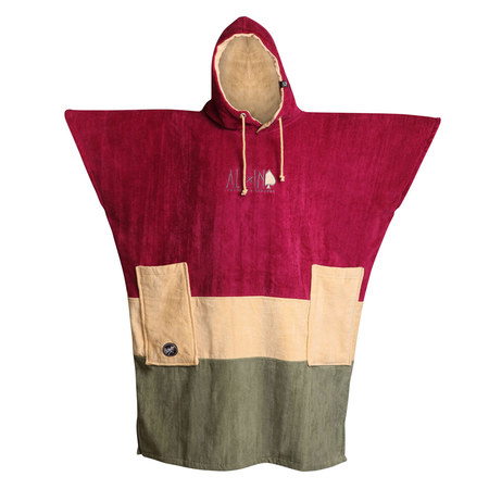PONCHO ALL-IN V BUMPY BURGUNDY TU